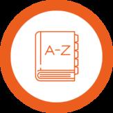 pictogramme rond - glossaire - réseau traducteur - abalis traduction